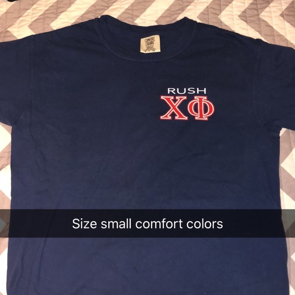 293dd6173cde Comfort Colors Tops - Chi Phi Fraternity Shirt